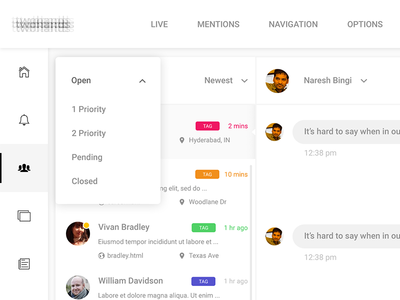 UI Designer for Customer Support