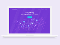 V Cloud Landing Page Design