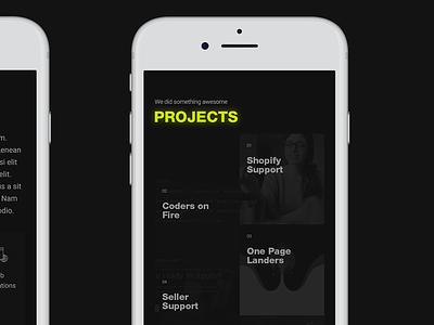Fission Mobile Site dark app darkuidesign dark ui darkui portfolio user interface design ui