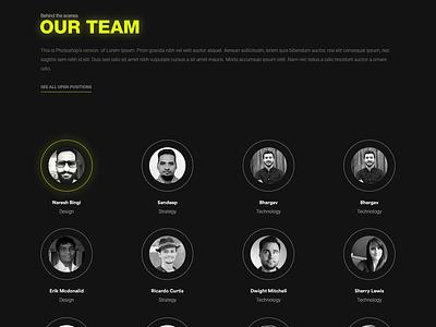 Team Page Design - Fission darkuidesign dark ui darkui team team page design user interface design ux ui portfolio