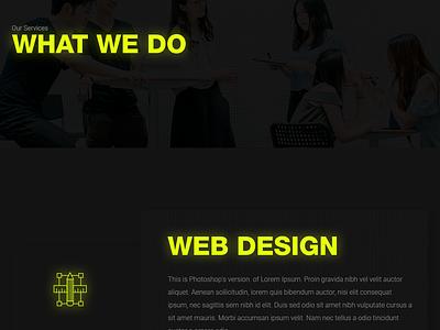 Services Page Design - Fission darkuidesign dark ui darkui services page design user interface design ux ui portfolio