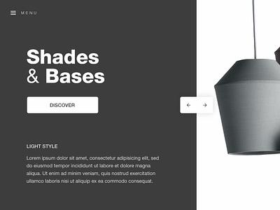 Lights Hero store ecommerce user interface design ux ui portfolio