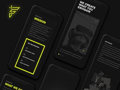 Fission Mobile Site dark ui darkuidesign darkui website design user interface design ux ui portfolio