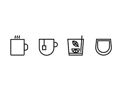 Belancio Icons wine tea simple mojito minimal iconography icons coffee clean