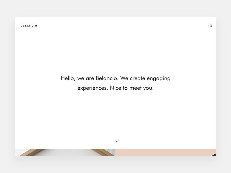 Belancio Website home startups simple minimal clean