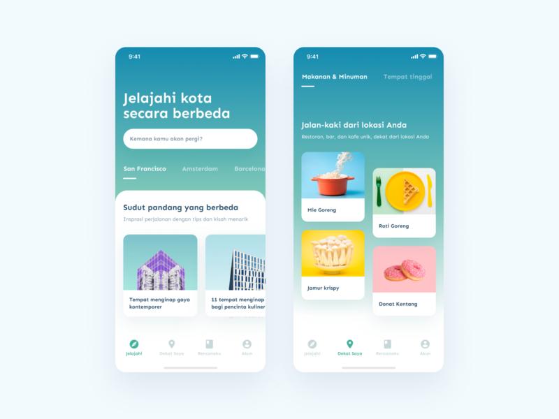 City Guides Mobile App UI