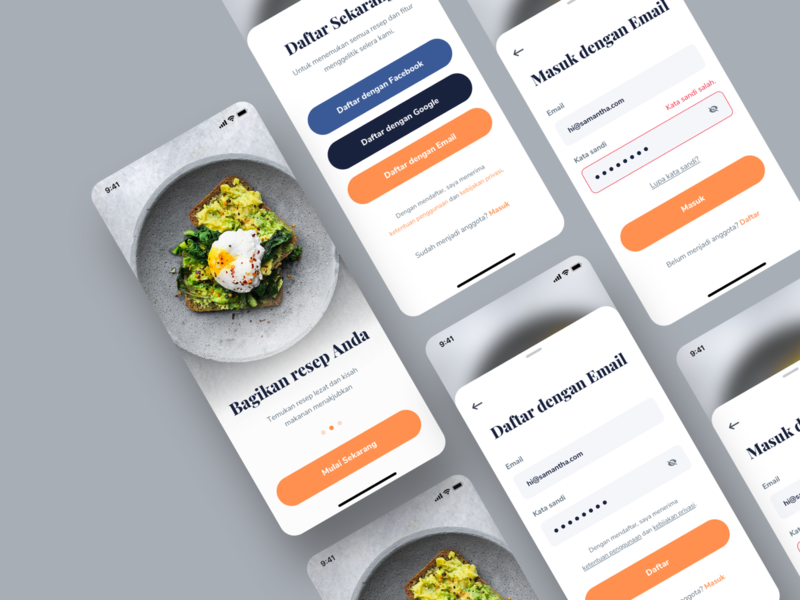 Cooking App - Signup