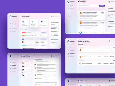 Job Seeker UI icons interface job seeker ux ui typography platform search messages job listing job application inbox time tracker find job filters design dashboard clean card