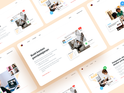 Features Section landingpage interface illustration typography website web landing page desktop ui clean alternative layout features section icons variations
