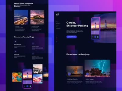 Landingpage for Camera & Photo Editor App