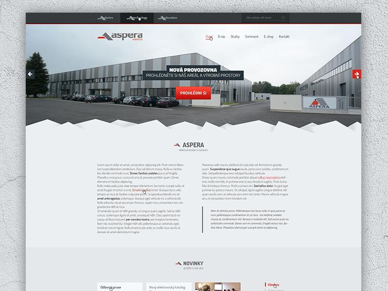 Aspera.cz aspera red electronics flat clean 404 error contact services product home grid