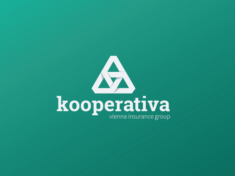 Kooperativa Logo Redesign (Unofficial) kooperativa logo redesign unofficial for fun ceska republika simple flat shadows