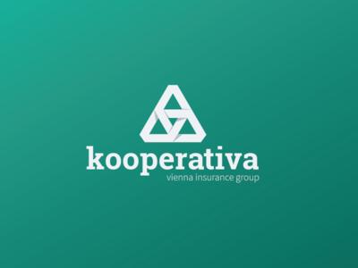 Kooperativa Logo Redesign (Unofficial) kooperativa logo redesign unofficial for fun ceska republika simple flat shadows