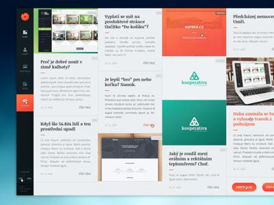 My portfolio - finally!!! portfolio czech orange fresh gradient red blog dashboard clean responsive