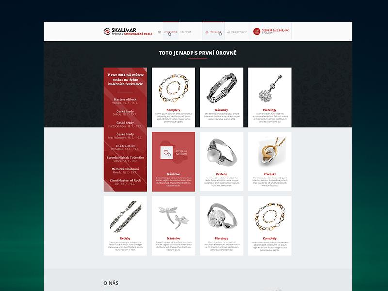 Skalimar Jewelry E-commerce skalimar jewelry ecommerce eshop czech red metro pattern