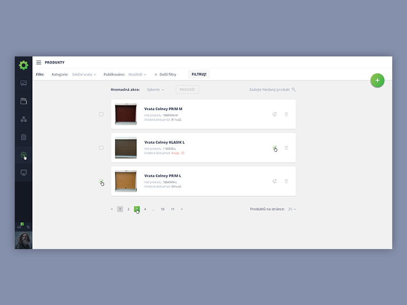 Dashboard inspired by Material Design 1/2 qopshop admin dashboard products notifications flat material design clean float button