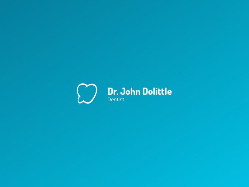 Dentist Logo v1 (for sale) dentist tooth care mouth logo for sale gradient doctor blue