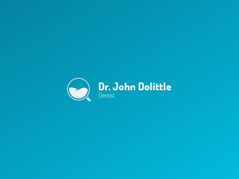 Dentist Logo v2 (for sale) dentist tooth care mouth logo for sale gradient doctor blue