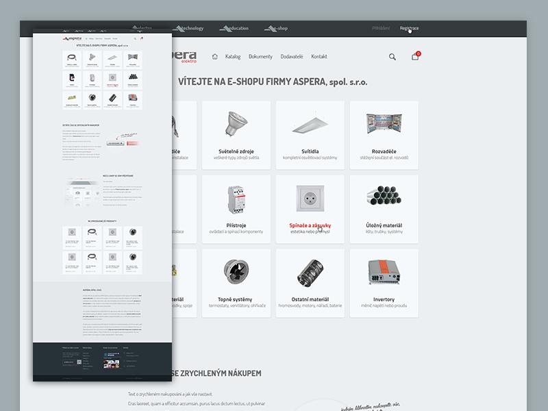 Aspera E-commerce aspera red clean flat ecommerce eshop czech electro metro personalized quickbuy