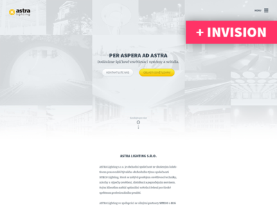 AstraLighting.cz - clean minimalistic website