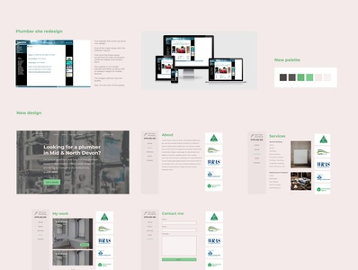 Plumbing website redesign ux ui webdesign service website website web design adobe xd