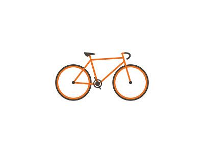 Bike Vector orange illustrator vector bike