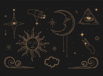 Occultism  magic  mythology  mysticism  illustration Frame mysticism mythology magic occultism