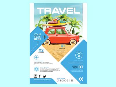 Travel corporate design flat illustration design branding