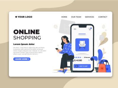 Landing Page corporate design flat illustration ux ui branding