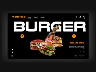 Burger logo design corporate design typography logo flat design illustration branding