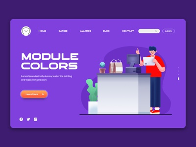 4 Templates Website1 illustraion landingpage webdesign ux ui