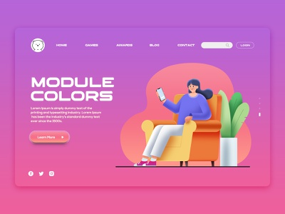 Templates Website userinterface photoshop xd design illustraion webdesign ux ui branding