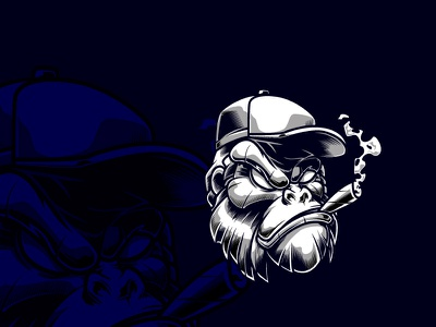Gorilla logo design corporate design logo flat design illustration branding