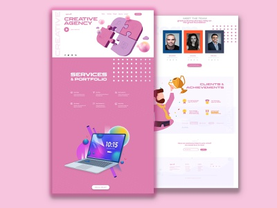 Creative Agency website photoshop xd design template design webdesign uidesign ux ui