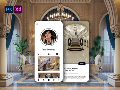 House sale and rent apps interface ux ui