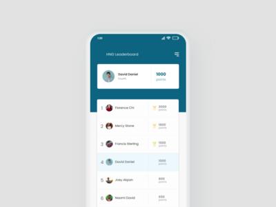 Leaderboard Mockup app webdesign ux web design ui