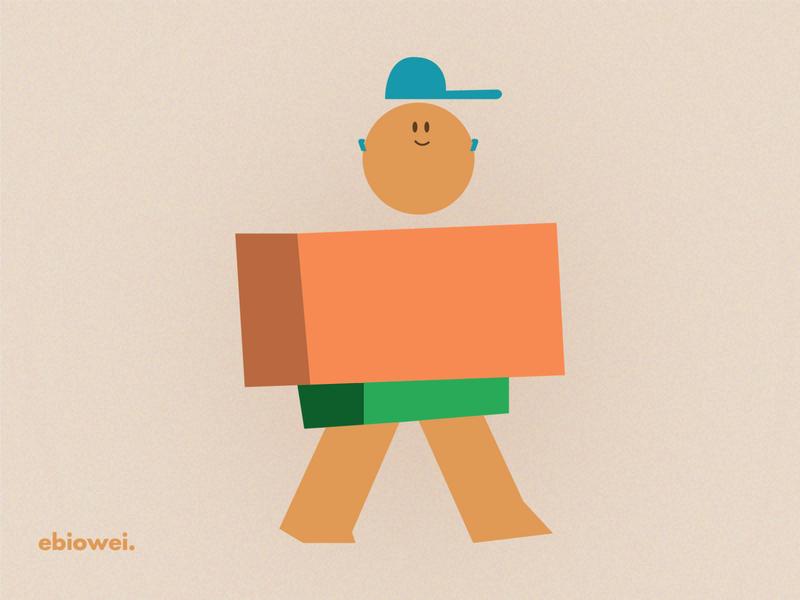 Walking man ui illustration design