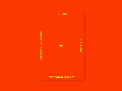 The King in Yellow cover redesign king yellow red minimalism challenge book packaging cover warmup