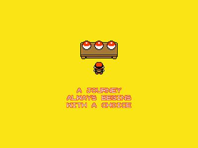 The Journey pixel art journey pokemon minimalism