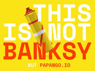 Artsy - papango.io banksy story papango design