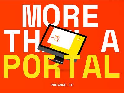 More than a portal - papango.io papango portal website ui story poster design
