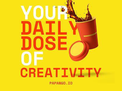 Coffee + Creativity - papango.io papango coffee cup story poster design