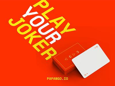 Time to play ! - papango.io joker card poster design design story papango