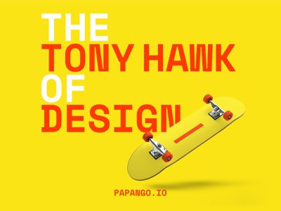 Time for a 900 - papango.io design studio tony hawk skateboarding poster design design story papango