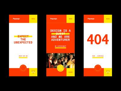 Papango.io website - Mobile version concept madagascar pop culture design agency mobile ui webdesign website design website ui papango