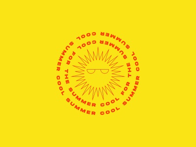 Cool for the summer - Weekly warm-up cool sunglasses sun summertime summer weekly warm-up challenge design papango