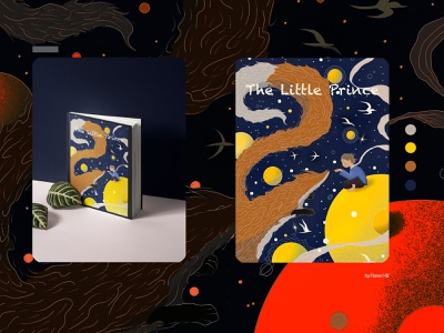the little prince design typography illustration