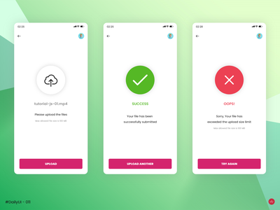 Flash Message - #DailyUI #011 - Design Challenge upload file failed success flash message uidesign daily 011 uidaily011 ui daily 011 daily ui 011 dailyui011 011 design daily ui challenge daily ui ui design uidaily ui dailyuichallenge dailyui daily 100 challenge