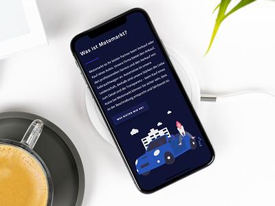 Motomarkt mobile web design