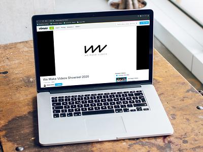 We Make Videos mockup logo vimeo branding design